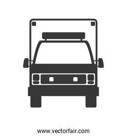 Ambulance icon. Medical and Health care. Vector graphic