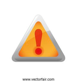 Alert triangle icon. Security and Protection care. Vector graphi