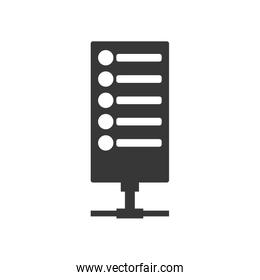Web hosting icon. Security and Protection care. Vector graphic