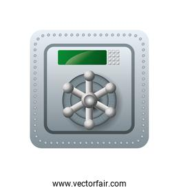 Strongbox icon. Security and Protection care. Vector graphic