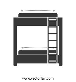 Bed icon. Room design. Vector graphic
