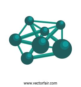 Atom icon. Science and chemistry design. Vector graphic