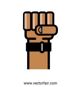 Fist icon. Hand design. Vector graphic