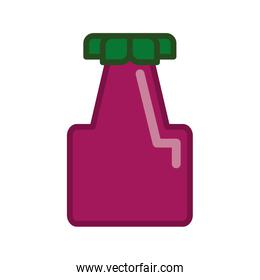 Pixel eggplant. Healthy food design. Vector graphic