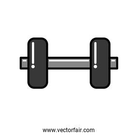 Metal Weight icon. weight lifting design. Vector graphic