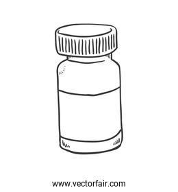 medicine jar icon. Medical and Health care design. Vector graphi