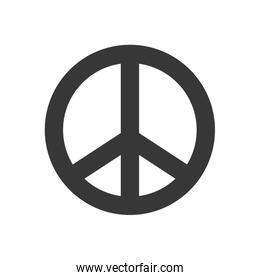 Hippie Circle icon. Love and Peace design. Vector graphic