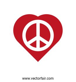 Heart shape icon. Love and Peace design. Vector graphic