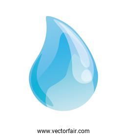 Blue drop icon. Water design. Vector graphic