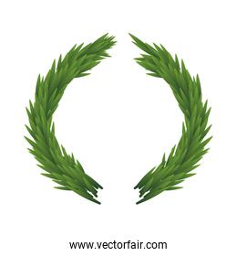 Green leaves. Nature design. Vector graphic