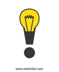 Exclamation mark icon. Warning and Message design. Vector graphi