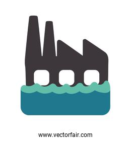 Factory accident icon. Insurance and protection design