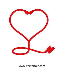 Stethoscope and heart icon. Medical and Health care. Vector grap
