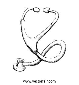 Stethoscope icon. Medical and Health care. Vector graphic
