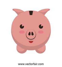 Piggy icon. Money and Financial item. Vector graphic