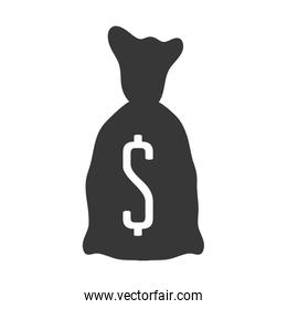 Money bag icon. Money and Financial item. Vector graphic