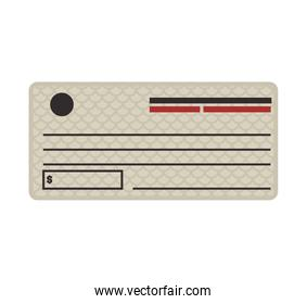 Check icon. Money and Financial item. Vector graphic