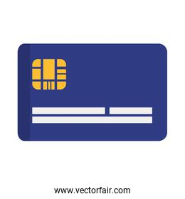Credit card icon. Money and Financial item. Vector graphic