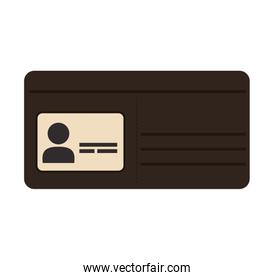 Wallet icon. Money and Financial item. Vector graphic