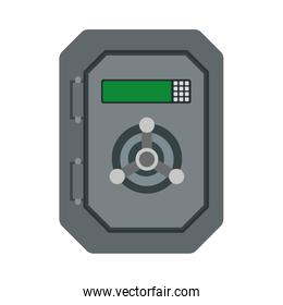 Strongbox icon. Money and Financial item. Vector graphic