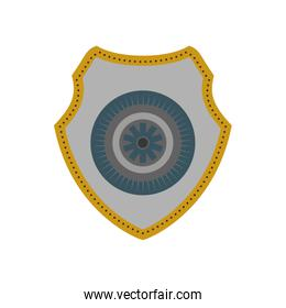 Shield icon. Protection. Vector graphic