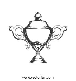 Trophy cup icon. Winner design. Vector graphic
