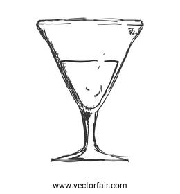 Cocktail glass icon. Drink design. Vector graphic