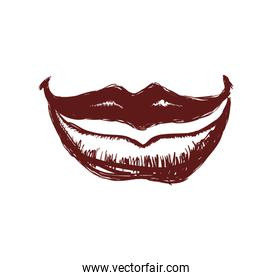 lips icon. Part of boby design. Vector graphic