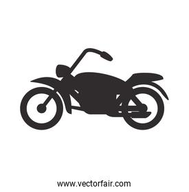 Motorcycle icon. Transportation design. Vector graphic