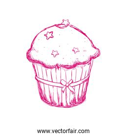 Muffin cupcake icon. Bakery design. Vector graphic