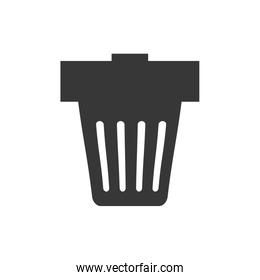Trash icon. Recycle and ecology design. Vector graphic