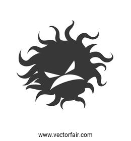 Bug icon. Security and Protection design. Vector graphic