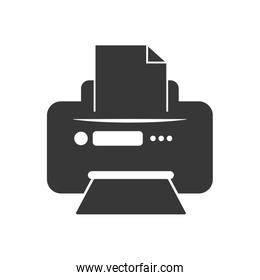 Printer. Technology and gadget design. Vector graphic