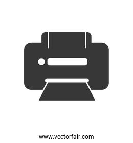 Printer icon. Technology and gadget design. Vector graphic