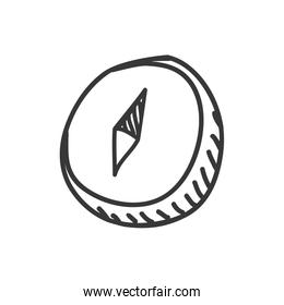 compass icon. Sketch and science design. Vector graphic