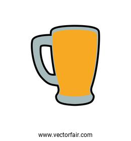 Beer glass icon. Drink and alcohol design. Vector graphic