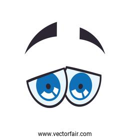 SadcCartoon eye icon. View and look design. Vector graphic