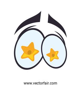 star cartoon eye icon. View and expression design. Vector graphi