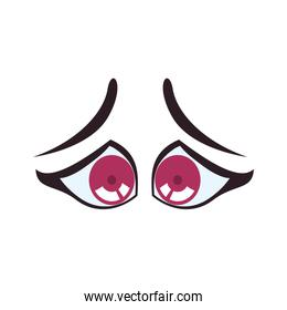 sad cartoon eye icon. View and expression design. Vector graphic