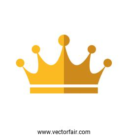 Crown royal king gold icon. Vector graphic
