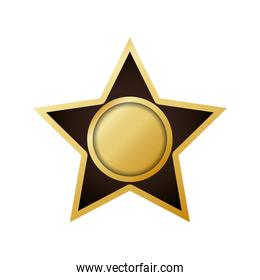 Seal stamp star label banner icon. Vector graphic