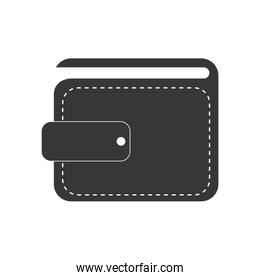 wallet payment money shopping icon. Vector graphic