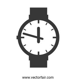 watch time classic traditiopnal wrist icon. Vector graphic
