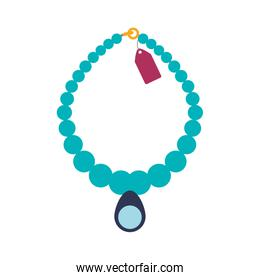 Necklace accesory fashion icon. Vector graphic