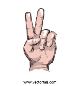 hand finger gesture palm icon. Vector graphic