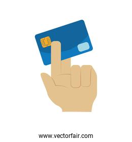 Credit card money payment buy icon. Vector graphic