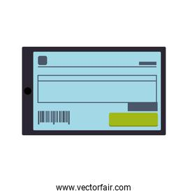 Check money payment buy icon. Vector graphic