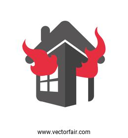 house home insurance accident protection icon. Vector graphic