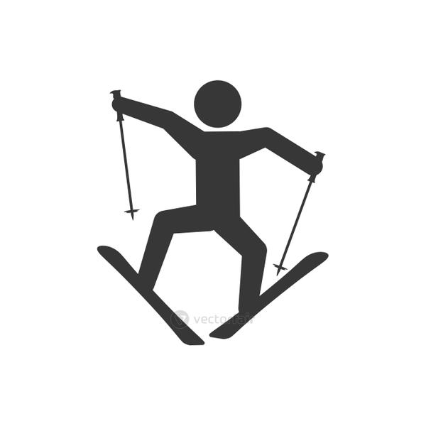 ski winter sport snow icon. Vector graphic