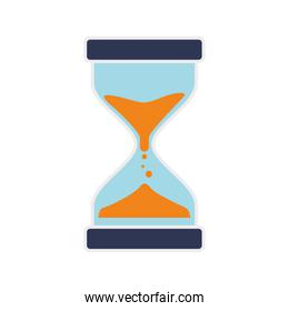 hourglass time antique old measure icon. Vector graphic
